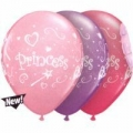 Princess Latex Balloons in Assorted Pink, Rose &amp; Spring Lilac  (1)